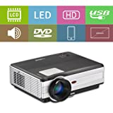 Gaming Movie Projector 4200 Lumen LED HD Dual HDMI 1080P for PC Xbox PS4 Wii, LCD Video Projector Indoor Outdoor Home Theater,Compatible with Android Firestick DVD Player Macbook Phone Tablet Laptop (Color: WXGA LED Movie Projector,4200Lumen)