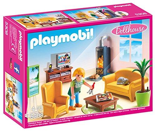 Playmobil - Sala de estar con fuego (53080)