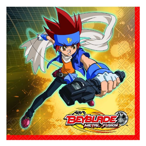 1 X Beyblade Lunch Napkins Party Accessory