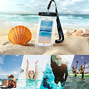 Waterproof Case, Mpow Universal Floating Dry Bag Pouch for Outdoor Activities for Devices up to 6.0 [2-PACK]