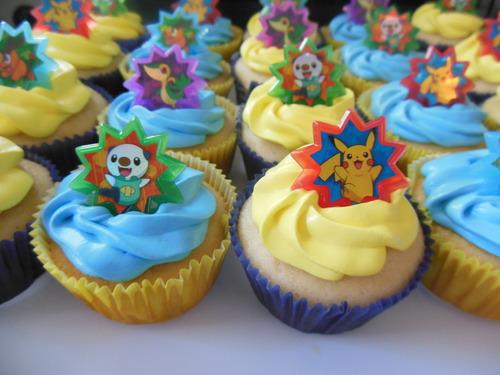 Pokemon Cupcake Rings Pokemon Birthday Cupcakes