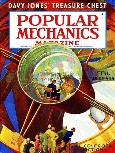 Magazine Cover Popular Mechanics Telescope Science Technology Art Print Bb8014