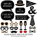 50th Anniversary - Photo Booth Props Kit - 20 Count