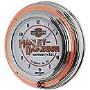 Classic HarleyDavidson Neon Clock