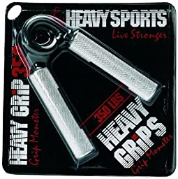 Heavy Grips - 350 lbs Resistance - Grip Monster - Grip Strengthener - Hand Exerciser - Hand Grippers for Beginners to Professionals