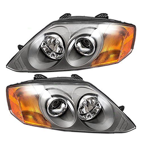 Driver and Passenger Headlights Headlamps Replacement for Hyundai 92101-2C051 92102-2C051 (03 Tiburon Headlight Assembly compare prices)