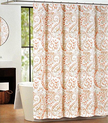 Tan Shower Curtain Tahari Home Fabric Shower Curtain Damask