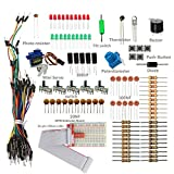SunFounder Sidekick Basic Starter Kit w/ 26-Pin GPIO Extension Board GPIO Cable Breadboard, Jumper wires, Color Led, Resistors, Buzzer for Raspberry Pi