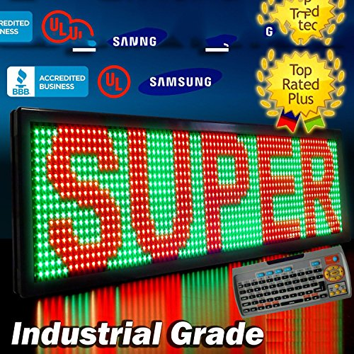 """Led Sign 3Color Rgy Programmable Scrolling Window Message Display 15""""X40"""""""