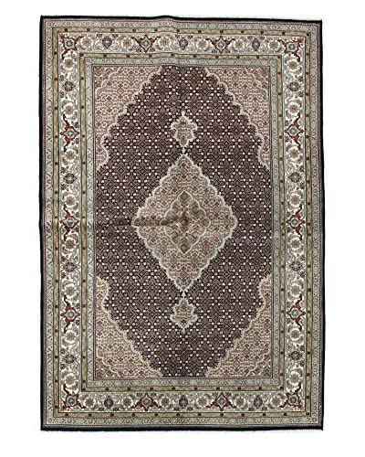 Bashian Fine Indo-Bijar Hand-Knotted Rug, Black, 5' 8 x 8' 1