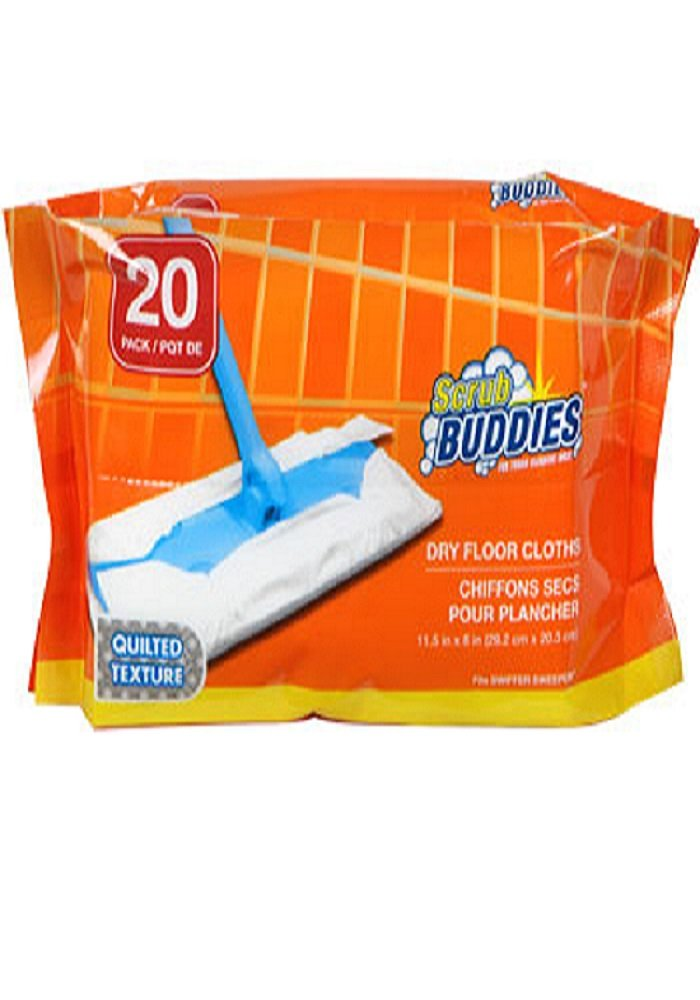 Amazon.com: Scrub Buddies Dry Floor Cleaning Cloths, 20-ct. Packs ...