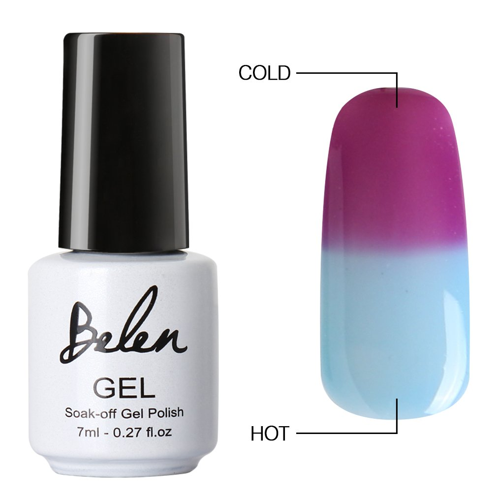 Belen Chameleon Thermal Colour Changing Gel Polish Soak Off Nail Art Varnish 5703