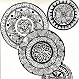 Designer Coasters By Brush, Palette And Coffee   ASH_Zentangle Circles   Printed On Foam Board   3.5 Inches X...
