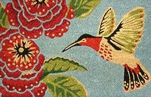 Stc paillasson coco motif colibri 45 x 75 cm - Paillasson en anglais ...