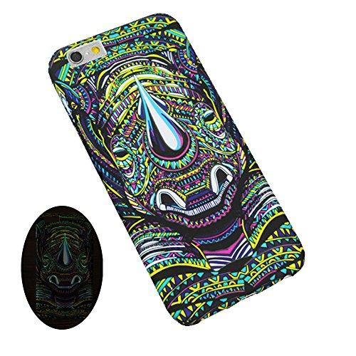 "Jinberry Colorate Matte Custodia Luminosa Protettiva in TPU Morbida per iPhone7 Plus (5.5"") Dipinto Ultrasottile Case Back Cover Nottilucenti per Apple iPhone 7 Plus - Rinoceronte"