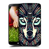 Head Case Designs Wolf Aztec Animal Faces Protective Snap-on Hard Back Case Cover for LG G2 D802