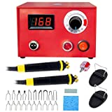 Wood Burning Machine Kit 50W Digital Pyrography Machine Digital Temperature Adjustable Wood-Burner Tool Kit for Wood/Leather/Gourd/Bamboo (Color: pattern 2, Tamaño: 23*20*19cm)