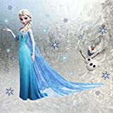 Elsa Frozen Christmas Wall Sticker Bedroom Decoration Olaf Wall Decal Poster for Kids Rooms Decor,frozen Stickers