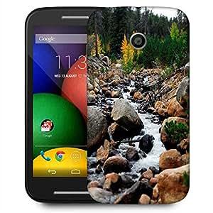 Snoogg Big Stones Designer Protective Phone Back Case Cover For Motorola E / Moto E
