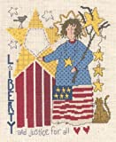 img - for Liberty & Justice Cross Stitch Chart book / textbook / text book