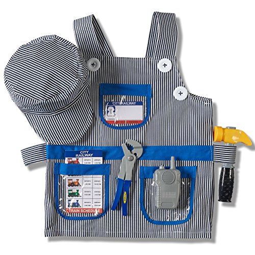 Prextex-Childs-Halloween-Conductor-Role-Play-Dress-Up-Train-Engineer-Costume-Set-and-Accessories