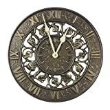 Home - 12-Inch Outdoor Ivy Silhouette Wall Clock