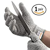 AOFU Cut Resistant Gloves,High Performance Level 5 Protection,Food Grade Certified Kitchen and Work Safety Lightweight Breathable and Extra Comfortable,1 Pair Large