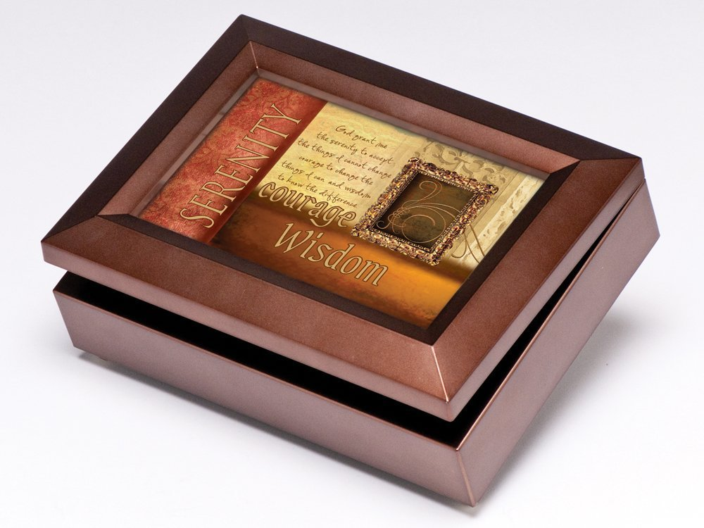 Serenity Prayer Digital Music Box / Jewelry Box Plays My Wish by Rascal Flatts – Music Boxes For Women
