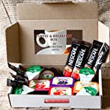 Coffee and Breakfast Essentials Weekend Box - Nescafe Original Coffee Sachets, Semi Skimmed Milk, Assorted Jams, Marmite Sachet & Sugar - Great for Holidays, Festivals, Camping - By Moreton Gifts