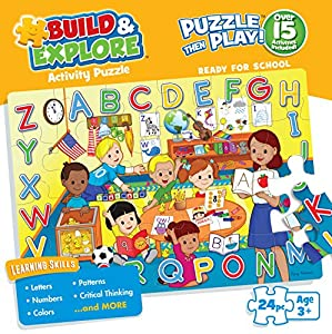Buffalo Games Build and Explore: Ready for School Jigsaw Puzzle (24-Piece)
