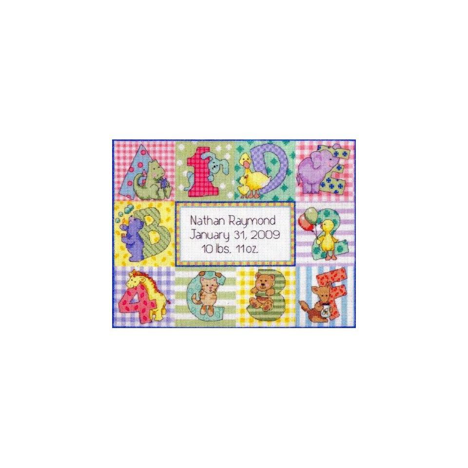 Cross Stitch Kit Zoo Alphabet Birth Record From Baby Hugs