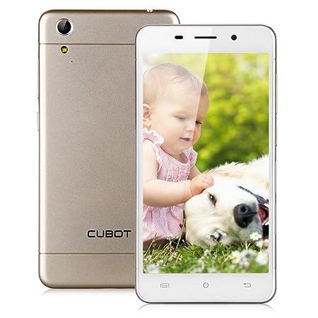CUBOT X9 Supper Smartphone débloqué 5 pouces IPS écran ultra mince 3G Android 4.4 MTK6592 Octa-Core 2G & 16G Double Caméra 8.0MP & 5.0MP, GPS, OTG,WIFI - Or claire