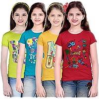 Sinimini casual short sleeve printed girls top