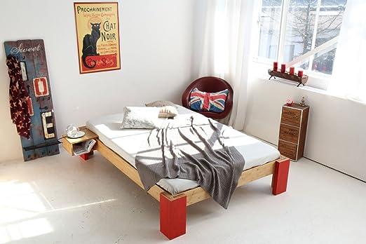 OSAKA Bambusbett ohne Ruckenlehne 140x220cm Überlänge, Höhe 40cm