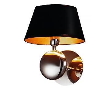 wandlampe schwarz wandleuchte dc514. Black Bedroom Furniture Sets. Home Design Ideas