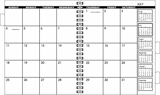Amazoncom 2 year planners autos post for Month at a glance blank calendar template