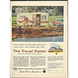 This resort home goes with you The Travel Trailer Mobile Homes Mfr Assn ad 1959
