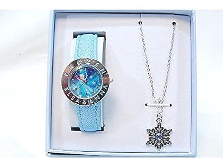 Disney - 887618 - Frozen - Montre Analogique Avec Bijoux - Bleu