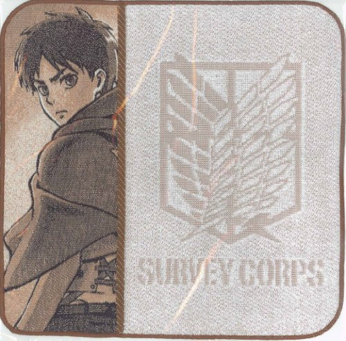 Attack on Titan Yoshiutsushimon hand towel (Brown: Ellen) (japan import) - 1