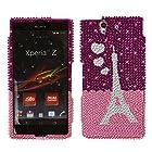 Fincibo (TM) Sony Xperia Z Ultra Togari C6802 C6806 C6833 Bling Crystal Full Rhinestones Diamond Case Protector - From Paris With Love