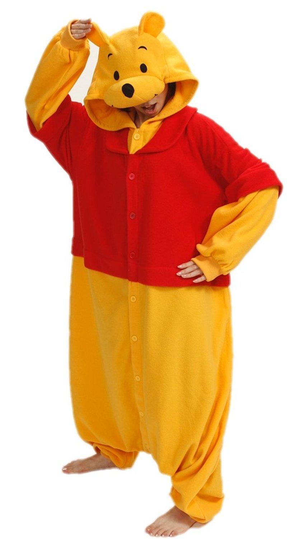 Women Men Winnie Pooh Unisex Adult Animal Sleep Suit Cosplay Kigurumi Costume Pajamas Outfit Costume Nightclothes Onesies Clothing Pajamas Jumpsuit