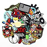 50pcs/lot Embroidered Patches Badges hot Iron on Cropped Patches for Clothes Stickers Appliques (Tamaño: 50pcs Embroidered Patches)