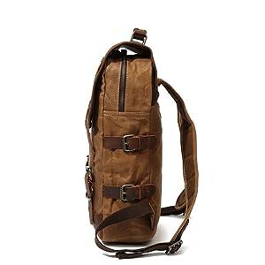 LHQ-Camera Bag Durable Men//Women Backpack Daypack Waterproof Vintage Zipper Canvas School Bag Outdoor Shopping Camera Bag Color : Black