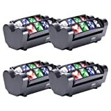 U`King DJ Moving Head Lights Beam Spider Light 8x10W RGBW with DMX for Party LED Stage Lighting (Color: 4Pack with Black)