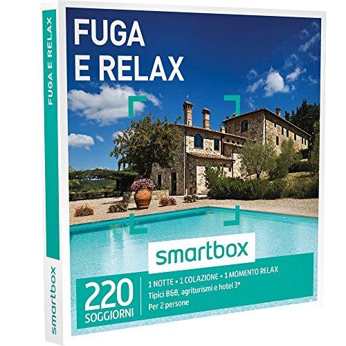 SMARTBOX - Cofanetto Regalo - FUGA RELAX - 180 soggiorni dal fascino rustico: in agriturismi, B&B o hotel 3* con momento relax