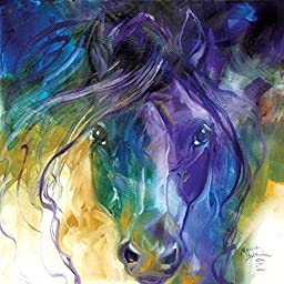 Westland Giftware Canvas Wall Art, Abstract Blue Roan, 15 by 15\