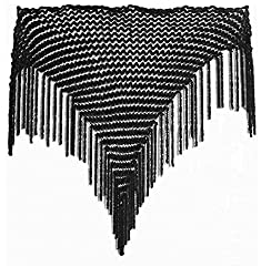 DollsofIndia Black Velvet Woolen Stole - Free Size - Black