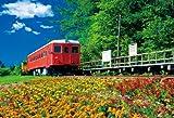 1000ピース ジグソーパズル 花咲く幸福駅 マイクロピース (26x38cm)