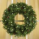 24' Cordless LED Pre-Lit Christmas Wreath