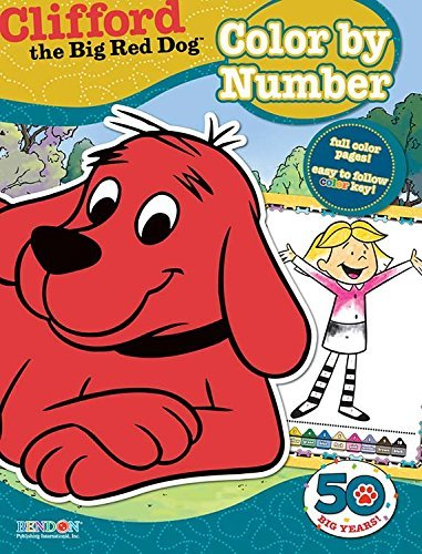 Clifford The Big Red Dog Color By Number Coloring Book.